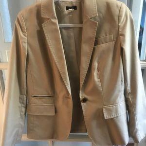 J crew tan cotton blazer